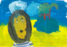 Children's drawings vector illustration