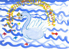 Children's drawings Royalty Free Stock Photos
