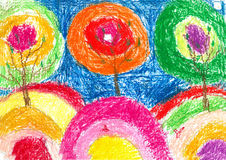Children's drawings royalty free illustration