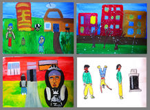 Children's drawings Stock Images