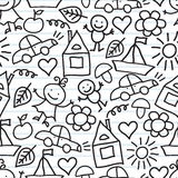 Children's drawings. Doodle background Royalty Free Stock Photos