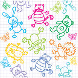 Children's drawings. Seamless  background. Stock Image