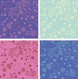 Children's drawings seamless pattern. Cute seamless pattern with children's doodles Stock Photography