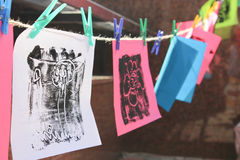 Children's Drawings Royalty Free Stock Images