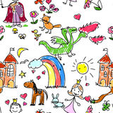 Children's drawings,vector Royalty Free Stock Images