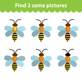 Children`s educational game. Find two same pictures.  Royalty Free Stock Photography