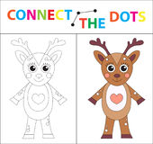 Children`s educational game for motor skills. Connect the dots picture. For children of preschool age. Circle on the. Dotted line and paint. Coloring page Royalty Free Stock Images