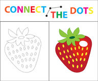 Children`s educational game for motor skills. Connect the dots picture. For children of preschool age. Circle on the. Dotted line and paint. Coloring page Vector Illustration