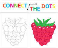 Children`s educational game for motor skills. Connect the dots picture. For children of preschool age. Circle on the Stock Photography