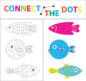 Children`s educational game for motor skills. Connect the dots picture. For children of preschool age. Circle on the. Dotted line and paint. Coloring page Royalty Free Stock Image