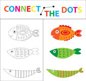 Children`s educational game for motor skills. Connect the dots picture. For children of preschool age. Circle on the. Dotted line and paint. Coloring page royalty free illustration