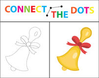 Children s educational game for motor skills. Connect the dots picture. For children of preschool age. Circle on the. Dotted line and paint. Coloring page Royalty Free Stock Photography