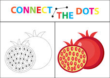 Children s educational game for motor skills. Connect the dots picture. For children of preschool age. Circle on the. Dotted line and paint. Coloring page Royalty Free Stock Photos