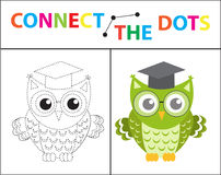 Children s educational game for motor skills. Connect the dots picture.. For children of preschool age. Circle on the dotted line and paint. Coloring page Royalty Free Stock Photo