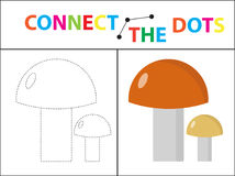 Children s educational game for motor skills. Connect the dots picture.. For children of preschool age. Circle on the dotted line and paint. Coloring page Stock Photo