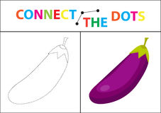 Children s educational game for motor skills. Connect the dots picture. For children of preschool age. Circle on the dotted line and paint. Coloring page Royalty Free Stock Photo