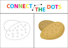 Children s educational game for motor skills. Connect the dots picture.. For children of preschool age. Circle on the dotted line and paint. Coloring page Stock Image