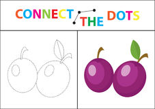Children s educational game for motor skills. Connect the dots picture. For children of preschool age. Circle on the dotted line and paint. Coloring page Stock Images