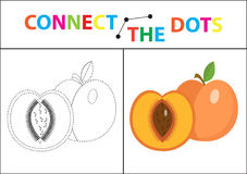 Children s educational game for motor skills. Connect the dots picture. For children of preschool age. Circle on the dotted line and paint. Coloring page Stock Photography