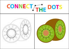 Children s educational game for motor skills. Connect the dots picture.. Children s educational game for motor skills. Connect the dots picture. For children Stock Images