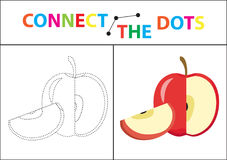 Children s educational game for motor skills. Connect the dots picture. For children of preschool age. Circle on the dotted line and paint. Coloring page Royalty Free Illustration