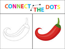 Children s educational game for motor skills. Connect the dots picture. For children of preschool age. Circle on the dotted line and paint. Coloring page Stock Illustration