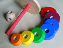 Children's educational toys for the little ones Royalty Free Stock Image