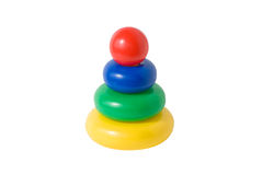 Children's educational toys pyramid Royalty Free Stock Photos