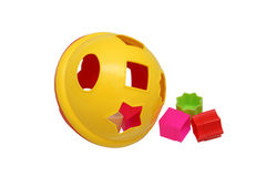 Children's Educational Toys sorter. Colored Royalty Free Stock Photo