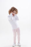 The children's emotions isolated Royalty Free Stock Photos