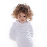 The children's emotions isolated Royalty Free Stock Photography