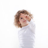 The children's emotions isolated Royalty Free Stock Images