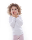 The children's emotions isolated Stock Photography