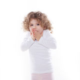 The children's emotions isolated Royalty Free Stock Photo