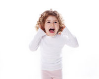 The children's emotions isolated Royalty Free Stock Image