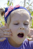 Children's emotions of joy Stock Photo