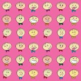 Children`s emotions seamless pattern, Stock Photography