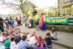 Children's Entertainer, Ashover, Derbyshire. Stock Image