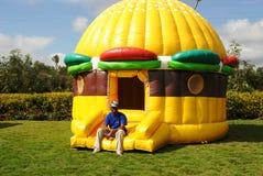 Children's  entertainment and fun Kenya. Tents for children's entertainment and fun moments Stock Image