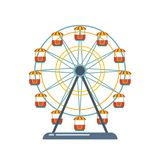 Children`s entertainment playground, recreation park. Funfair with ferris wheel. Children`s entertainment playground, recreation park. Place for children`s Stock Photo