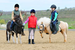 Children's equestrian Royalty Free Stock Images