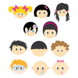 Children's faces Royalty Free Stock Photography