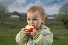 Children's famine. The love and care is necessary for small children Stock Photography