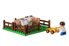 Children's farm with pets Royalty Free Stock Photo
