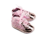 Children`s fashion slippers Royalty Free Stock Images