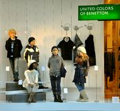 Children's fashion store in Italy  Royalty Free Stock Photography