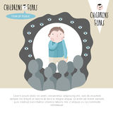Children's fears. Vector illustration. Stock Photography