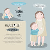 Children's fears. Vector illustration. Royalty Free Stock Photography