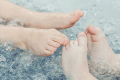 Children's feet Stock Photo