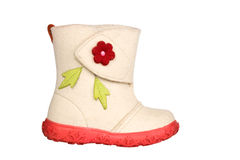 Children's felt boot Stock Image